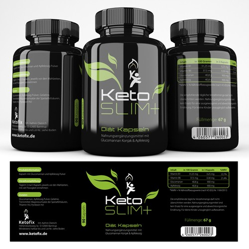 Keto Slim+ Diet Pils LABEL
