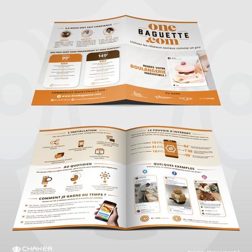 Brochure design for One Baguette