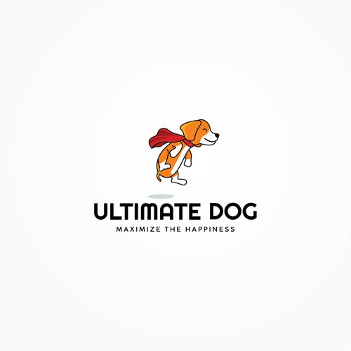 concept the logo of animal '' Ultimate Dog ''