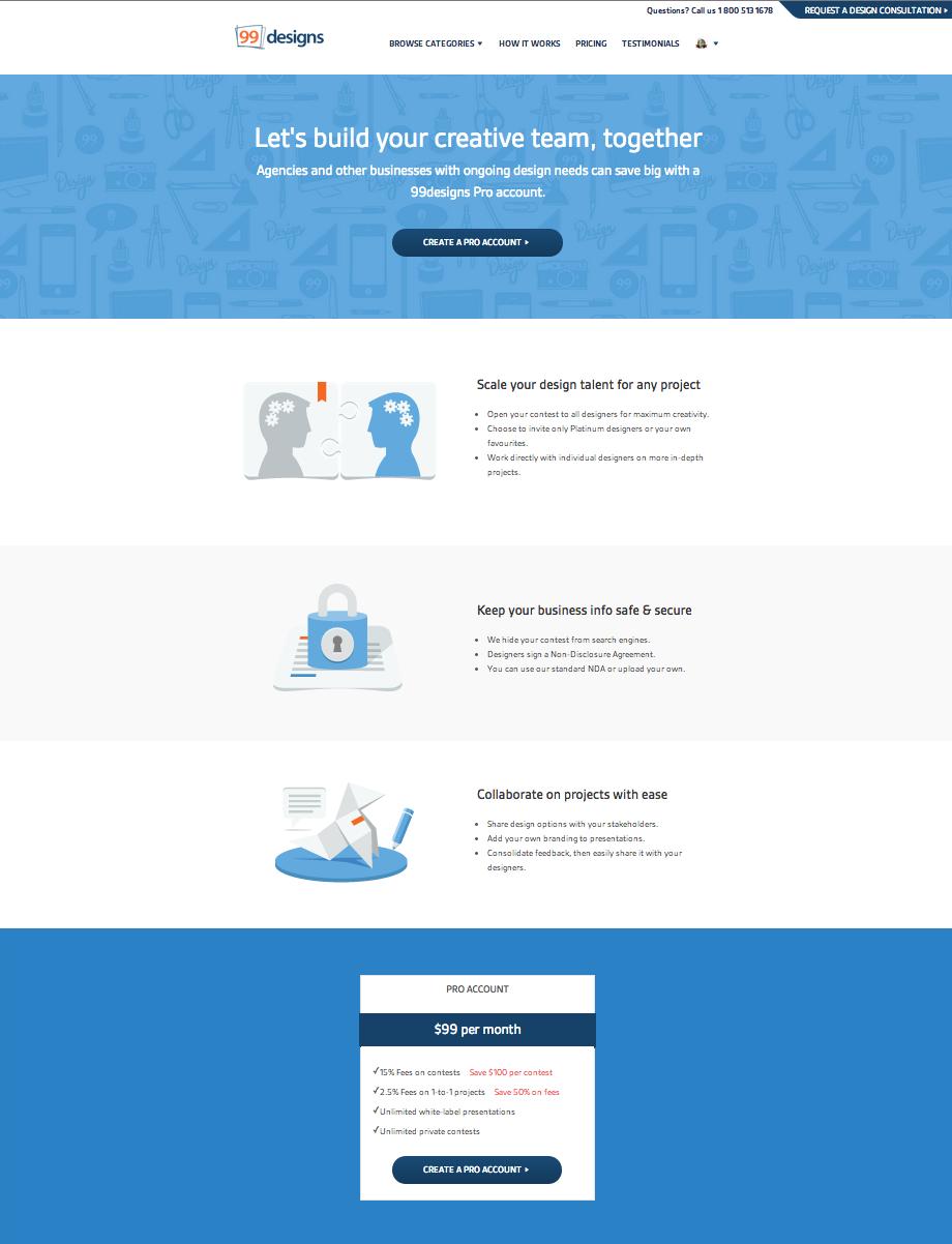 Create website illustrations for 99designs