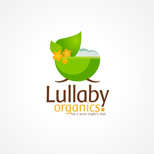 logo with original graphic(s) for Lullaby Organics