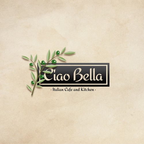 "Logo for the restaurant ""Ciao Bella""."
