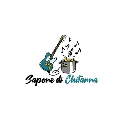 Guitar logo concept
