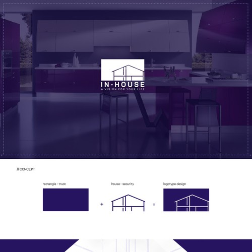 Logotype for real estate company