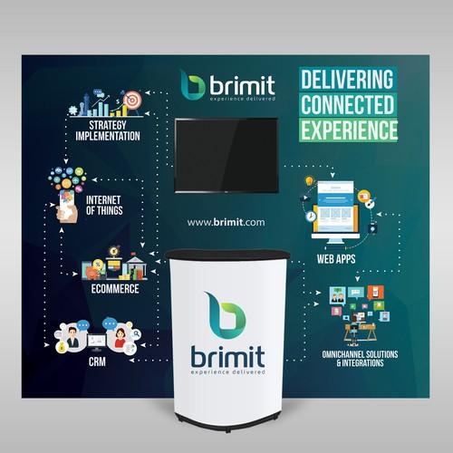 Brimit Trade Show Backdrop
