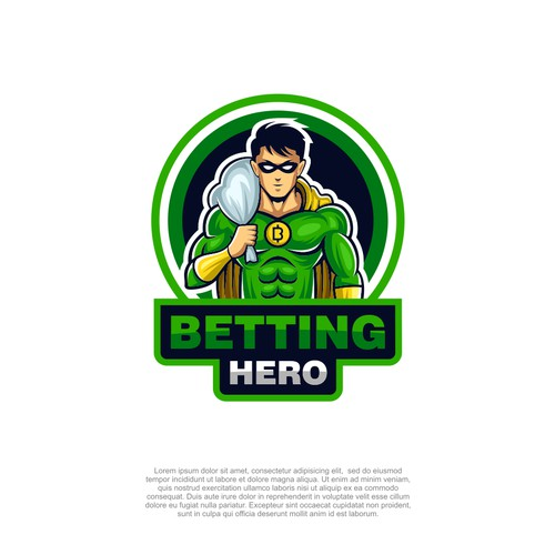 superhero logo for betting hero