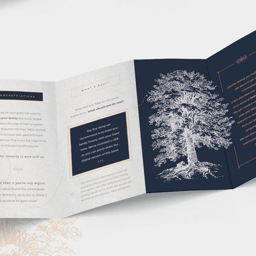 Timeless marketing quadfold brochure