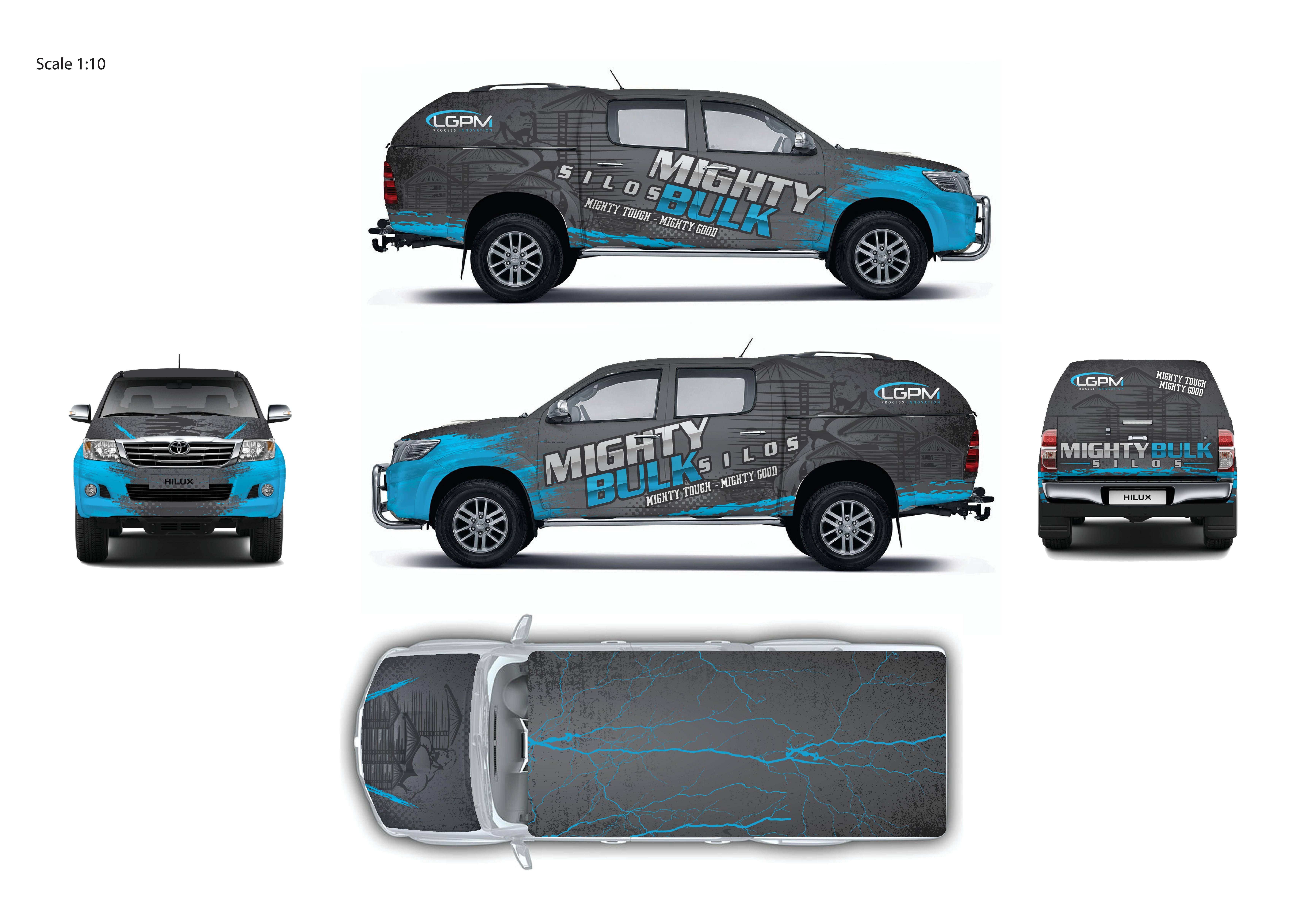 """""""Mighty Bulk Silos"""" car wrap"""