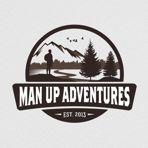 Craft a Wild, Rugged, Adventurous logo for Man Up Adventures