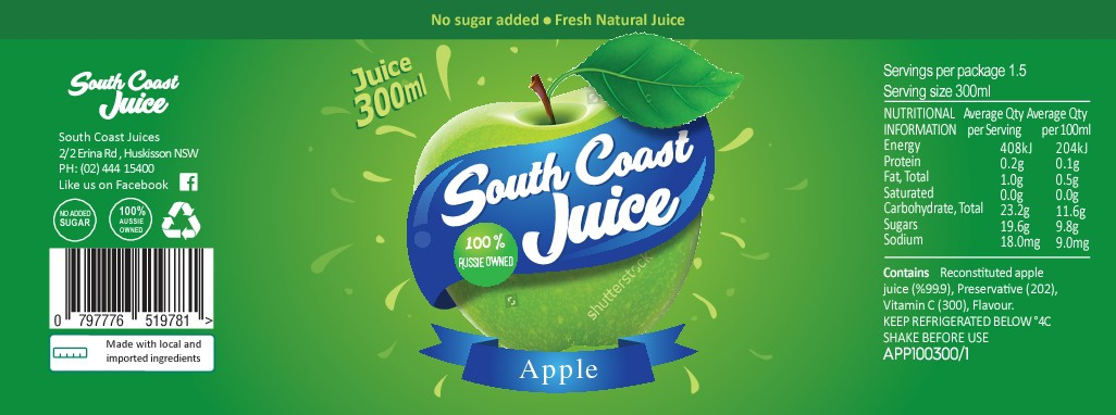 Fresh Juice Label
