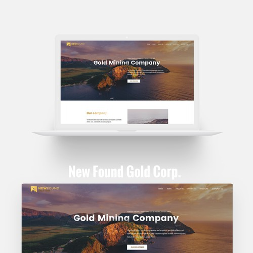 Gold Mining Company - Modern Website