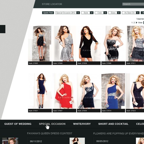 Design A Fashion Website For An Esteemed Dress Maker