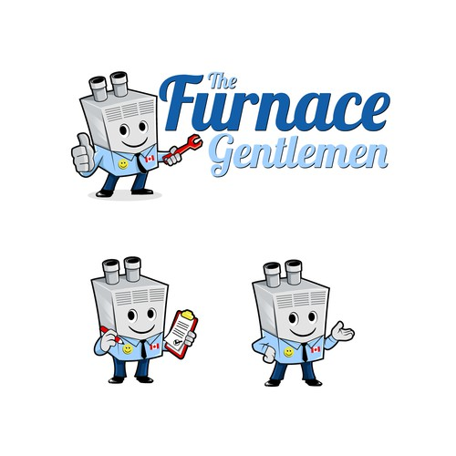 Create a mascott logo for a Furnace Install and Repair company