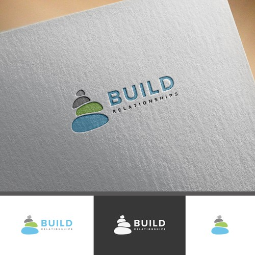Create modern logo for 'BUILD' fundraising campaign