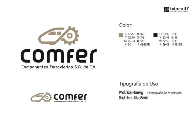Diseño de logotipo sencillo pero corporativo para empresa que manufactura piezas para trenes.