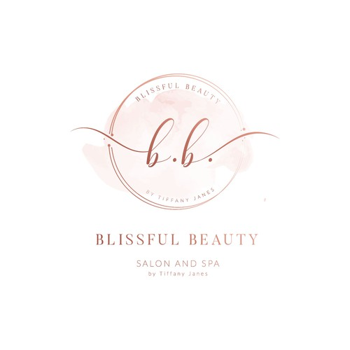 Feminine logo for new beauty salon - Blissful Beauty by Tiffany Janes