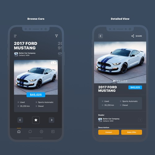 Clean Design for an Automotive App