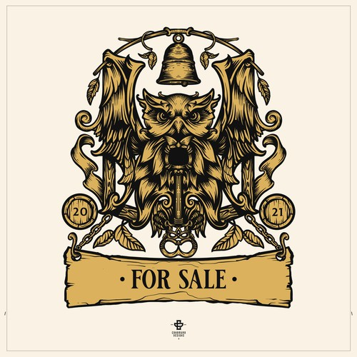Rustic, Illustrative  Bar Logo for Sale