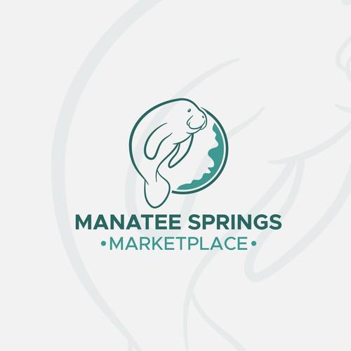 Logo design concept for Manatee Springs