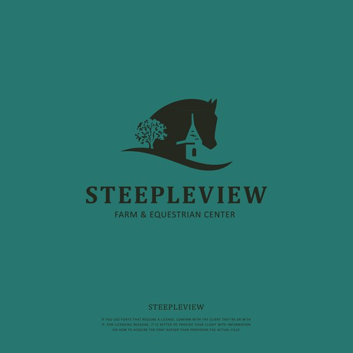 Concept logo for Steepleview