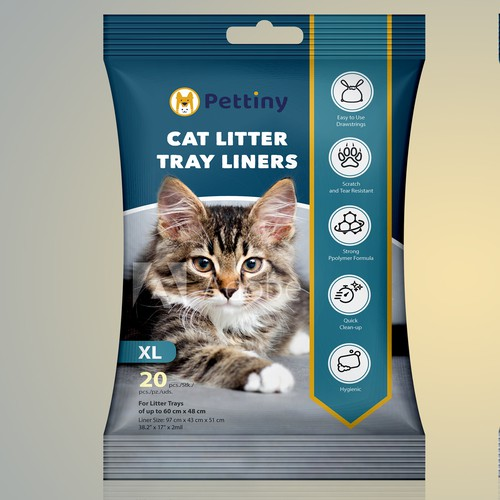 Cat Litter Tray Liners Packaging