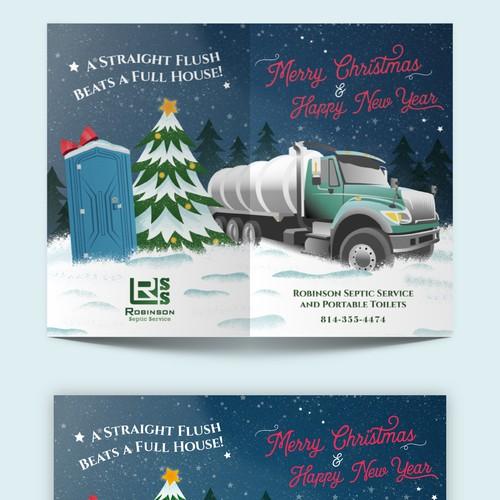 Christmas themed holiday card