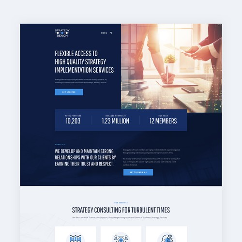 Homepage Strategy Bench