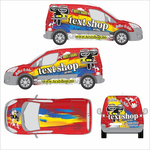 template wrapping car TEXT SHOP