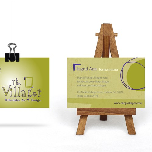 Business Card forOddly Fun Art gallery