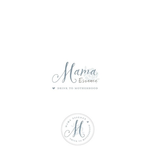 Simple and homey branding for tea company catering to new mothers
