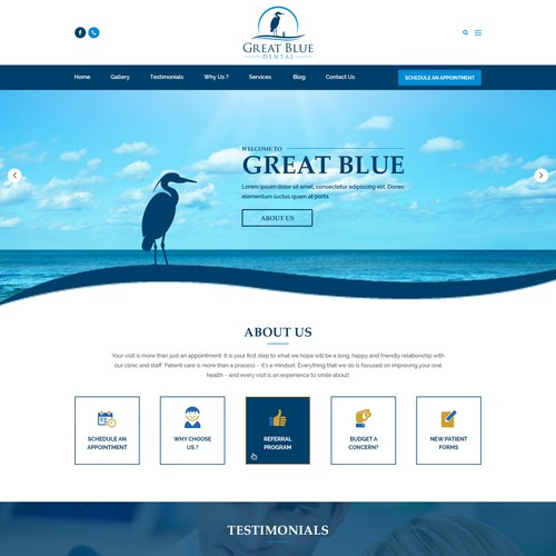 Dental Blue Homepage Design