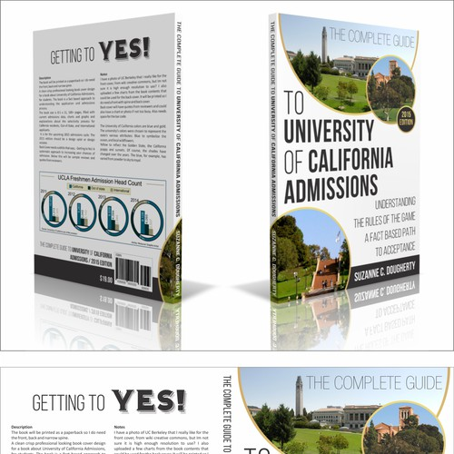 Design a professional book cover for The Complete Guide to University of California Admissions!