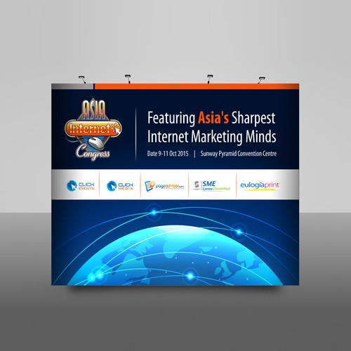Backdrop for ASIA Internet Congress
