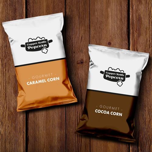 Logo for Caramel popcorn Company