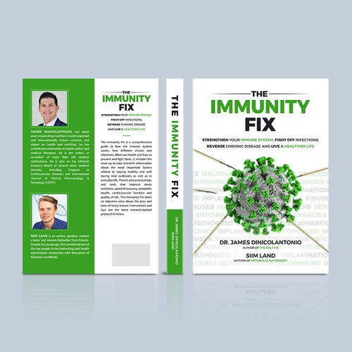 Winning book cover design for The Immunity Fix