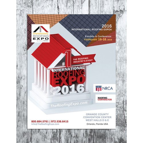 Create a print ad illustrating the roofing industry's #1 tradeshow