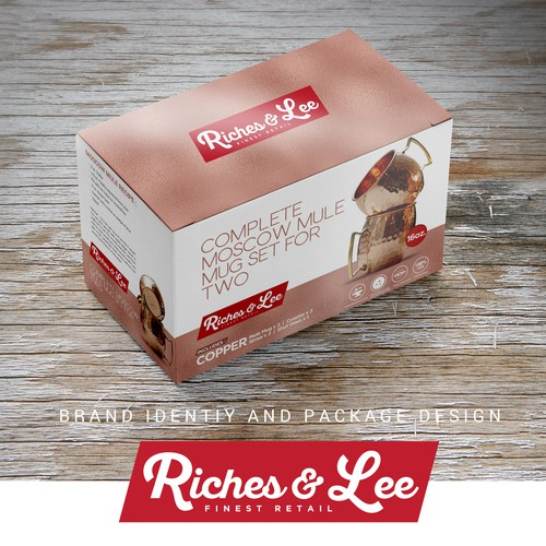 Package and Brand Design For Riches & Lee