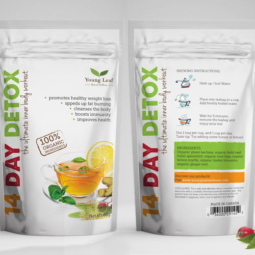 Label for detox tea