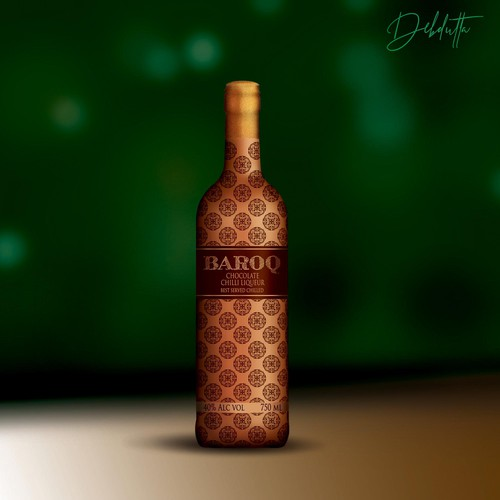wrapper for Baroq liqueur