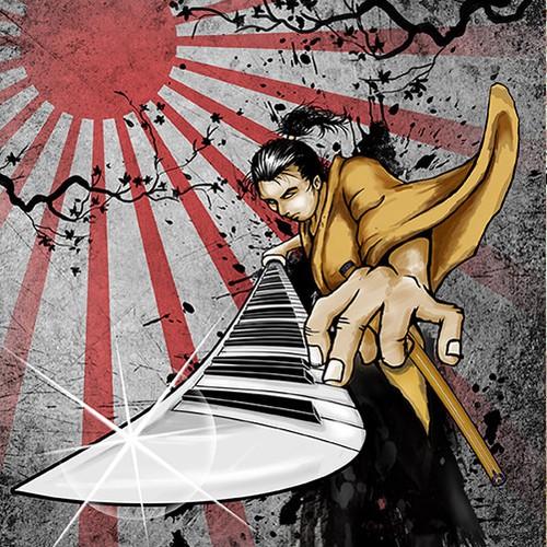 Illustration/logo for music related blog