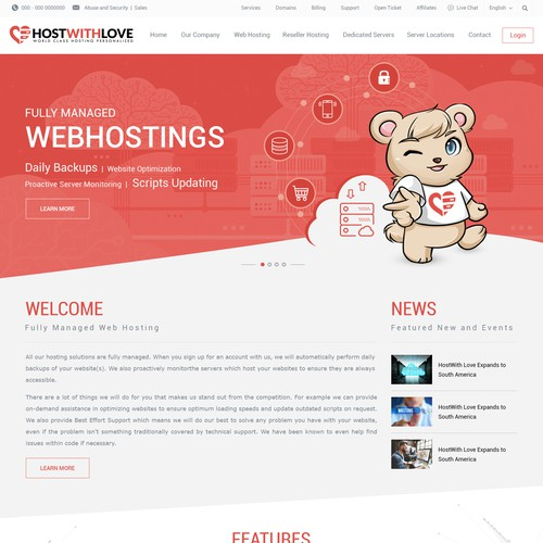 Website Design for HostWithLove