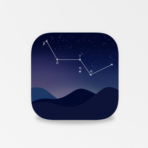 Simple clean astronom apps icon