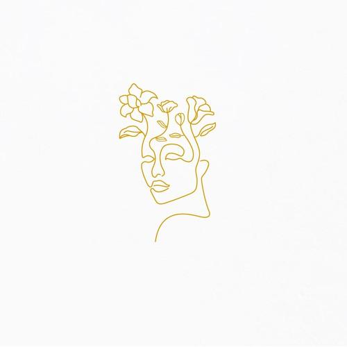 "Minimal line logo for ""Break up to Bloom"""
