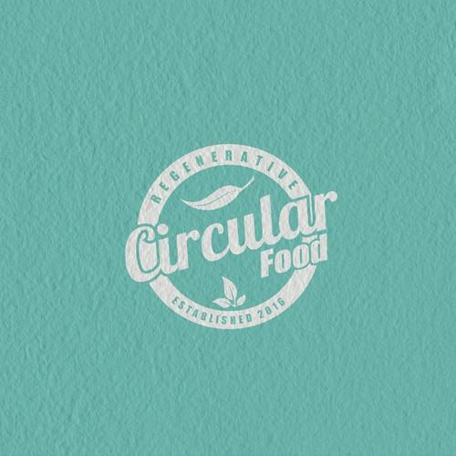 Circular food emblem logo