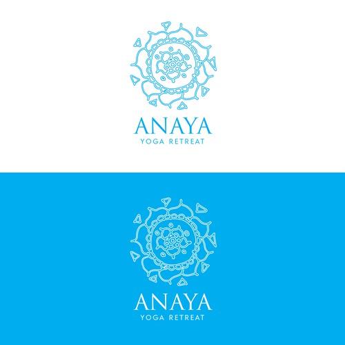 Logo design for Anaya Yoga retreat