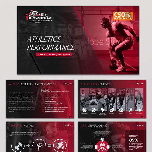 Sports and Fitness Presentation Deck