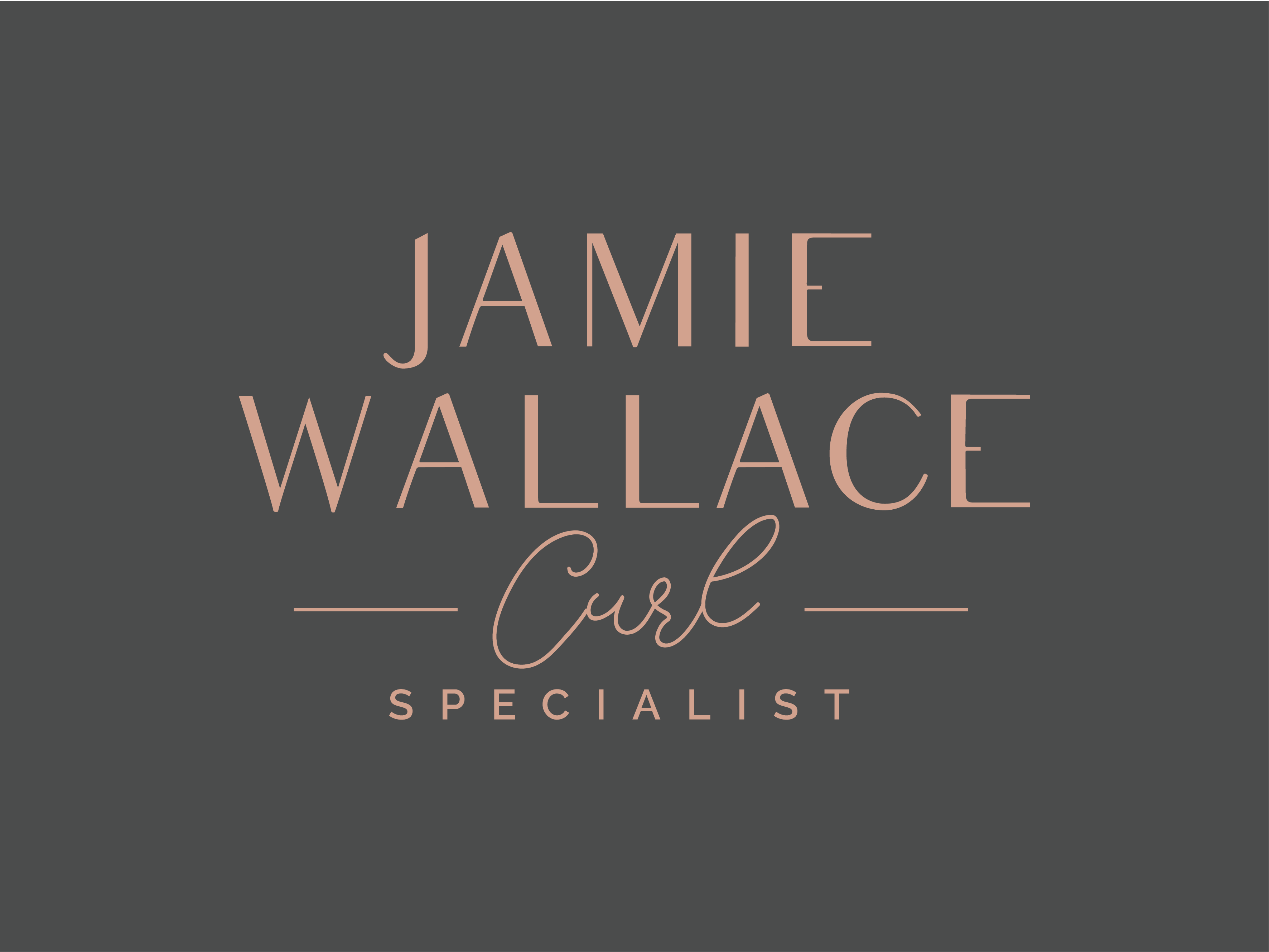 Logo for a hairstylist that is a Naturally Curly Hair Specialist!