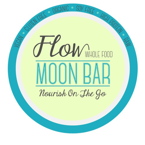 Create the next logo for Flow~ Whole Food Bar