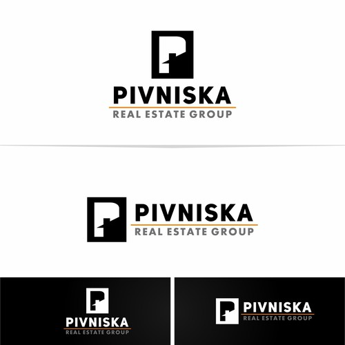 bold, sophisticated, modern, easy to read real estate logo
