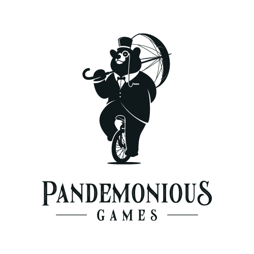 Create a whimsically sophisticated Gentleman Bear for Pandemonious Games
